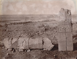 Sculptured pillars at Rajaona, Monghyr (Munger) District 1003178